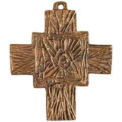 """Cross"" Pendant by Giò and Arnaldo Pomodoro"