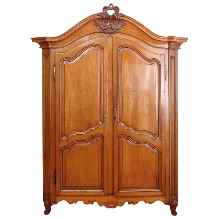 French Louis XV Cherry Armoire, circa 1750