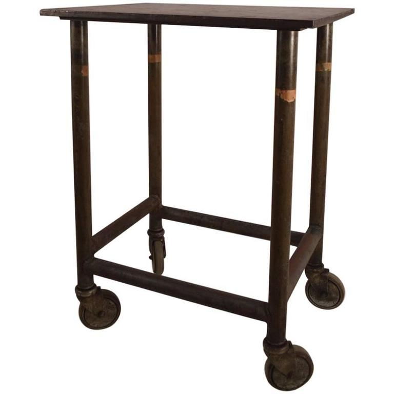 Industrial Iron Turtle Stand on Wheels