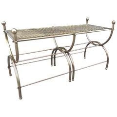 French Brass Curule Bench