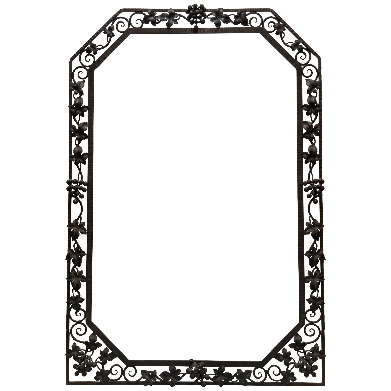 French Art Deco Grape motif Mirror Frame