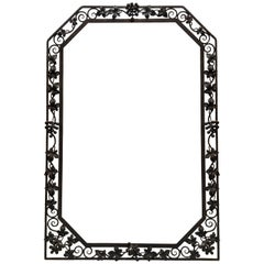 French Art Deco Grape motif Mirror Frame