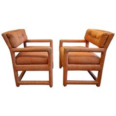 Pair of Milo Baughman Parsons Chairs