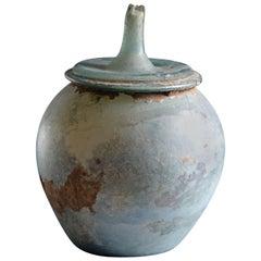 Large Ancient Roman Glass Cinerarium Vessel, 100 AD