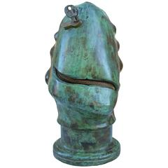 "Bronze sculpture ""Zipper Face"""