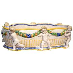 """Karlsruher"" Majolica Jardiniere, Signed, circa 1905"