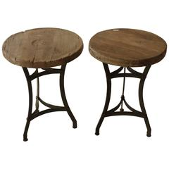 Antique Wood Side Tables