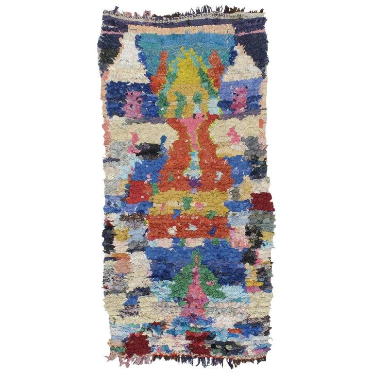 "Moroccan ""Boucherouite"" Rug For Sale"