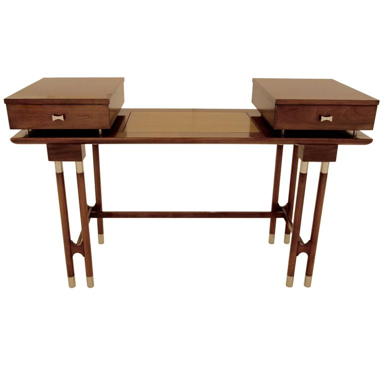 Mid-Century Modern Writing Desk or Vanity For Sale