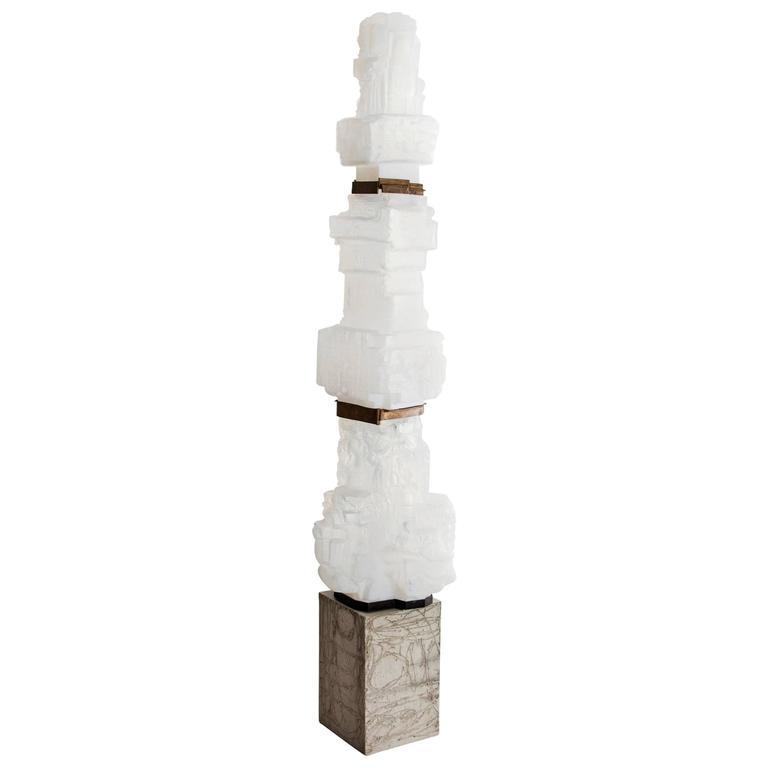 Unique Assemblage Column in Handblown Glass by Thaddeus Wolfe, 2015