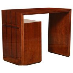 "Art Deco Side Table with Side ""Secret"" Bar"