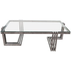 Linear design coffee table