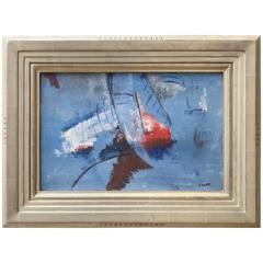 "Jean Crotti Oil Painting ""Visage Abstrait"""