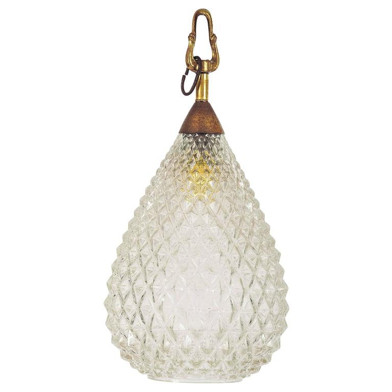1940s Murano Faceted Glass Pendant Light For Sale At 1stdibs