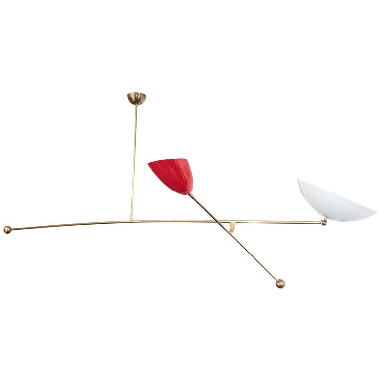 Counter Balance Chandelier, the style of Angelo Lelli For Sale