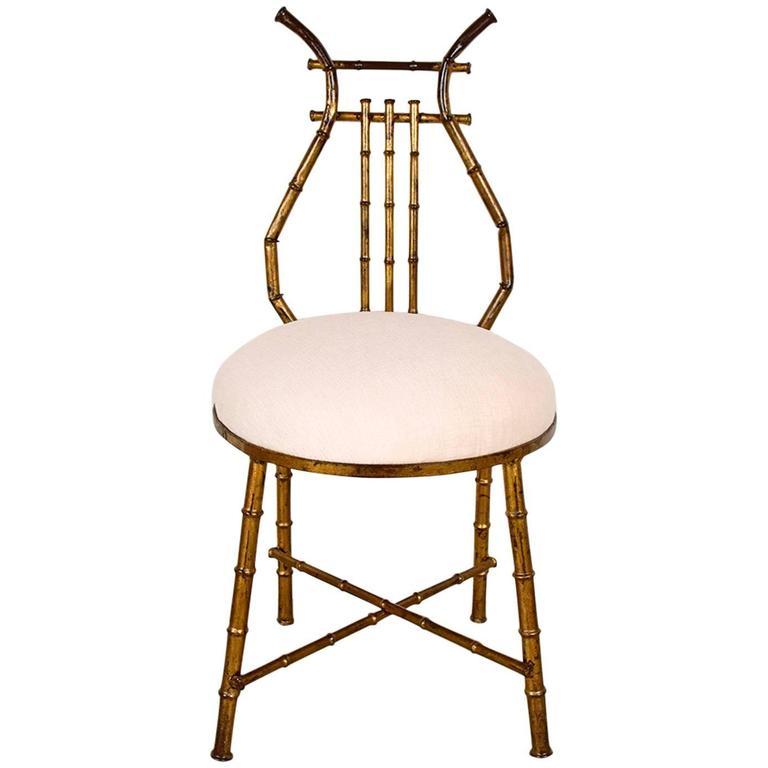 Small Vintage Vanity Chair At 1stdibs