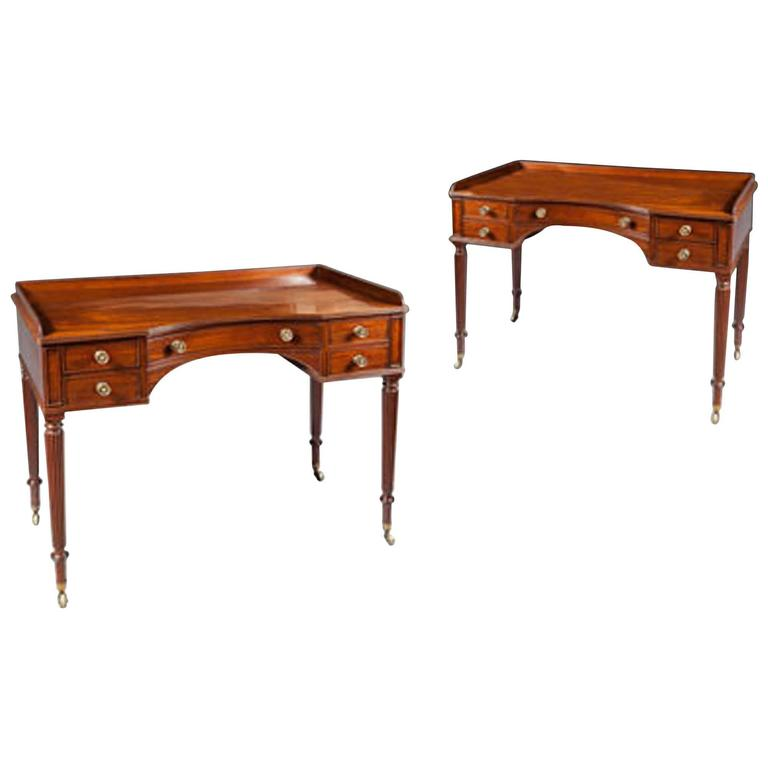 Fine Pair of Gillows Bedroom Dressing Tables
