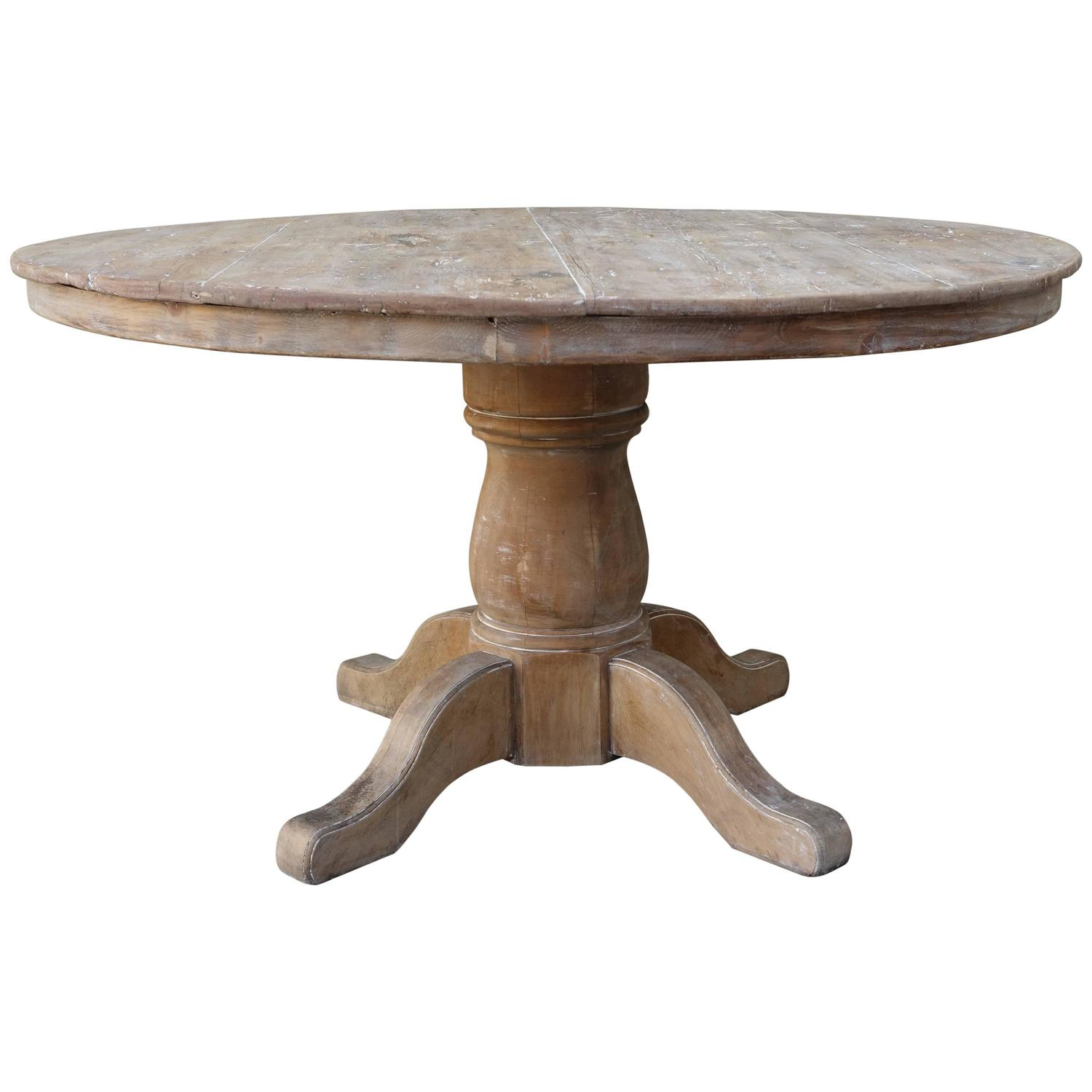 Swedish pine pedestal dining table at 1stdibs for Pedestal dining table