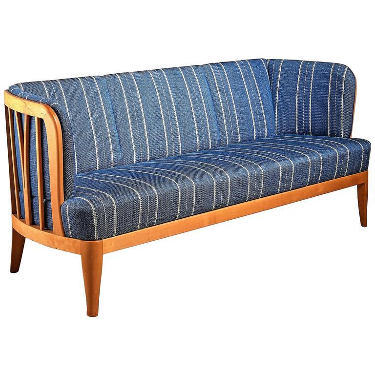 Carl Malmsten Rare 'Ulla' Three-Seat Sofa, Sweden, 1950s