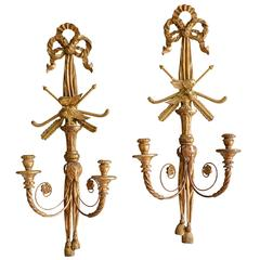 Pair of Giltwood Appliques
