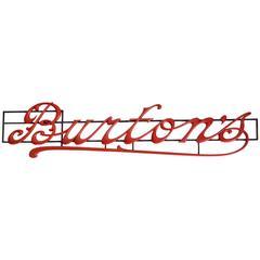 'Burton's' Shop Sign