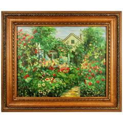 Garden Lush Oil Painting