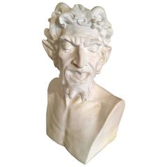 Life size Plaster Bust of the Greek God Pan
