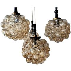 Bubble Amber Pendant in the Style of Helena Tynell for Limburg