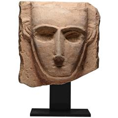 Ancient Arabian Limestone Abstract Pillar Sculpture - 300 BC
