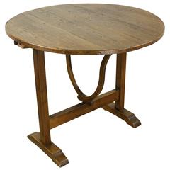 Small Antique French Oak Wine Table
