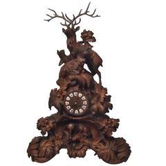Swiss 19th Century Black Forest Clock
