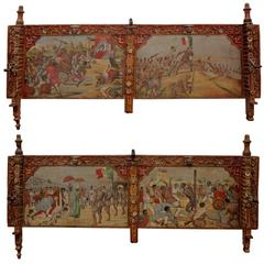 Pair of Late 19th Century Sicilian Processional Cart Panels