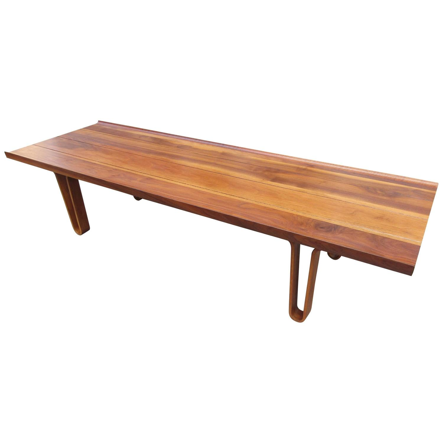 Solid Walnut Coffee Table Or Bench At 1stdibs