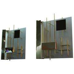 "Pair of Wall Lights by Gio Ponti, Model 575 ""Quadri Luminosi,"" circa 1960"
