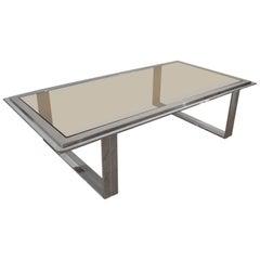 Rectangular Steel Coffee Table by Romeo Rega, Italy, 1970s