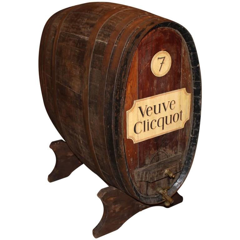 Large French Oak Wine Or Champagne Barrel Cask On Stand At 1stdibs