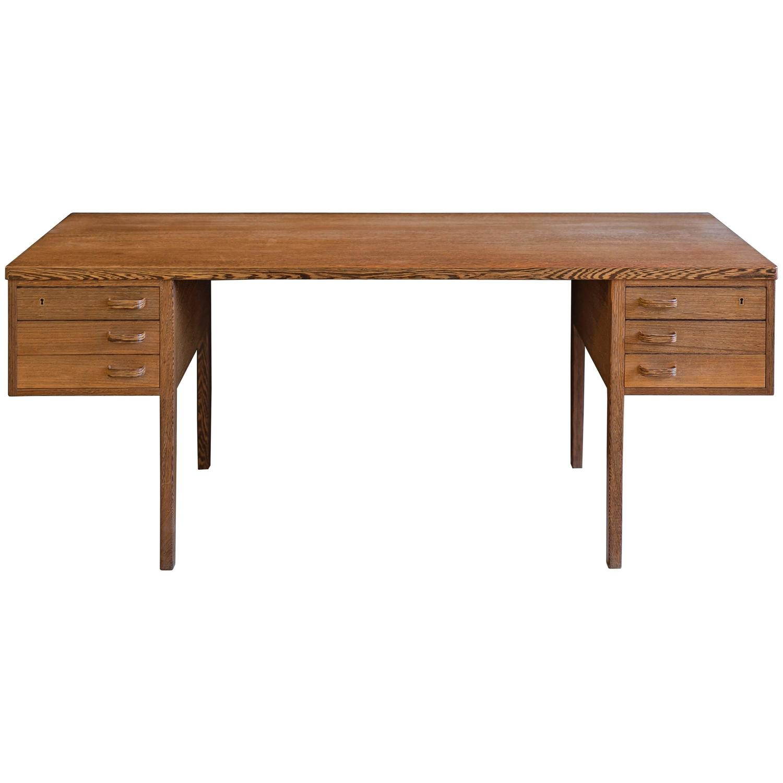 modernist freestanding desk in wengé wood by nanna and jørgen  - modernist freestanding desk in wengé wood by nanna and jørgen ditzel forsale at stdibs