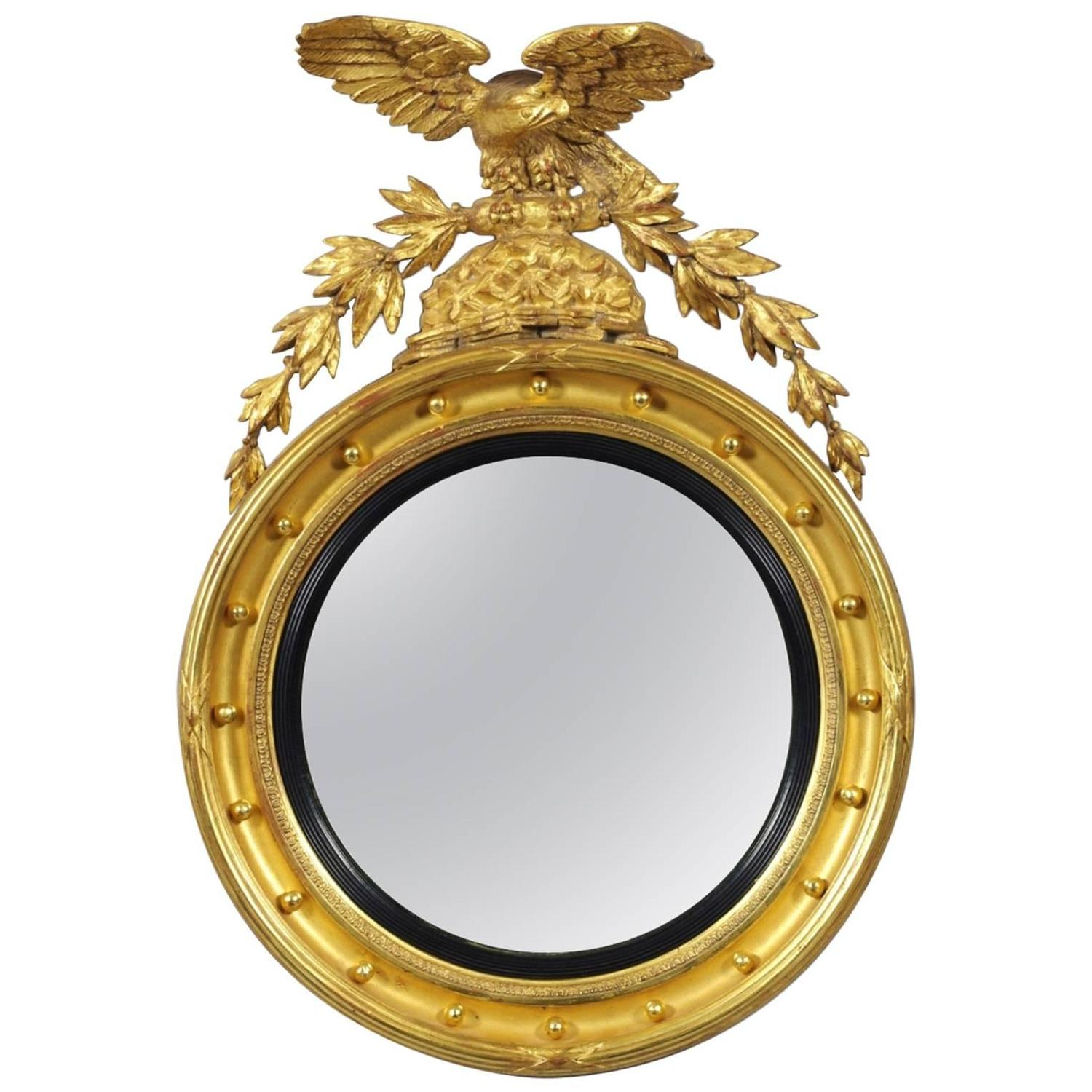 Regency convex mirror at 1stdibs for Convex mirror