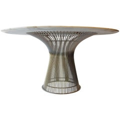 Warren Platner for Knoll Dining Table with Carrera Marble Top