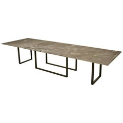 Custom Old Plank Steel Table Base Available in Any Dimension or Material
