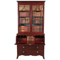 Mahogany Secretaire Bookcase, Sheraton, circa 1795