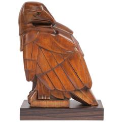 Limewood Sculpture of an Eagle by Jan Altorf, 1915