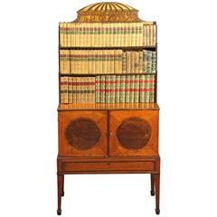 George III Sheraton Period Antique Satinwood Dwarf Bookcase