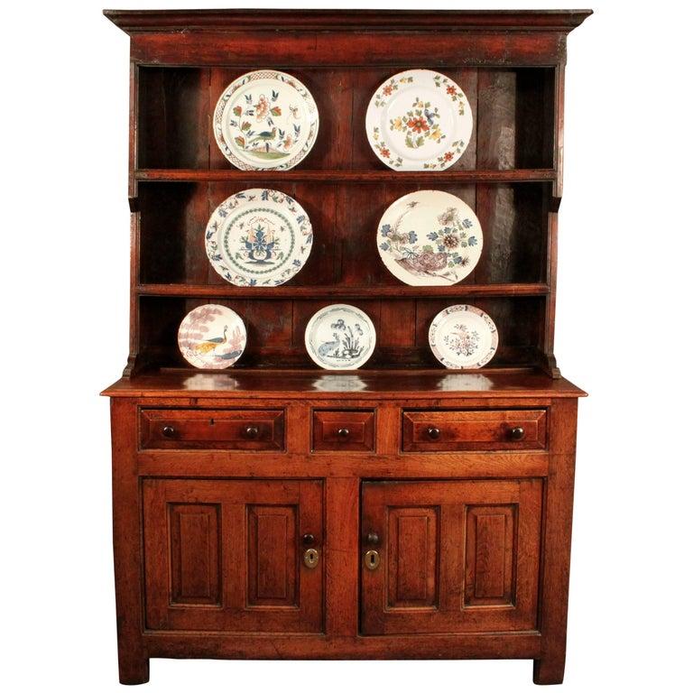 Antique Oak Dresser and Rack For Sale