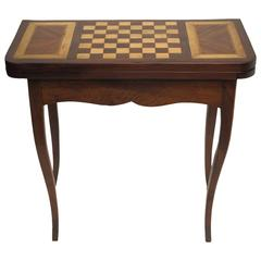 French Walnut Game Table
