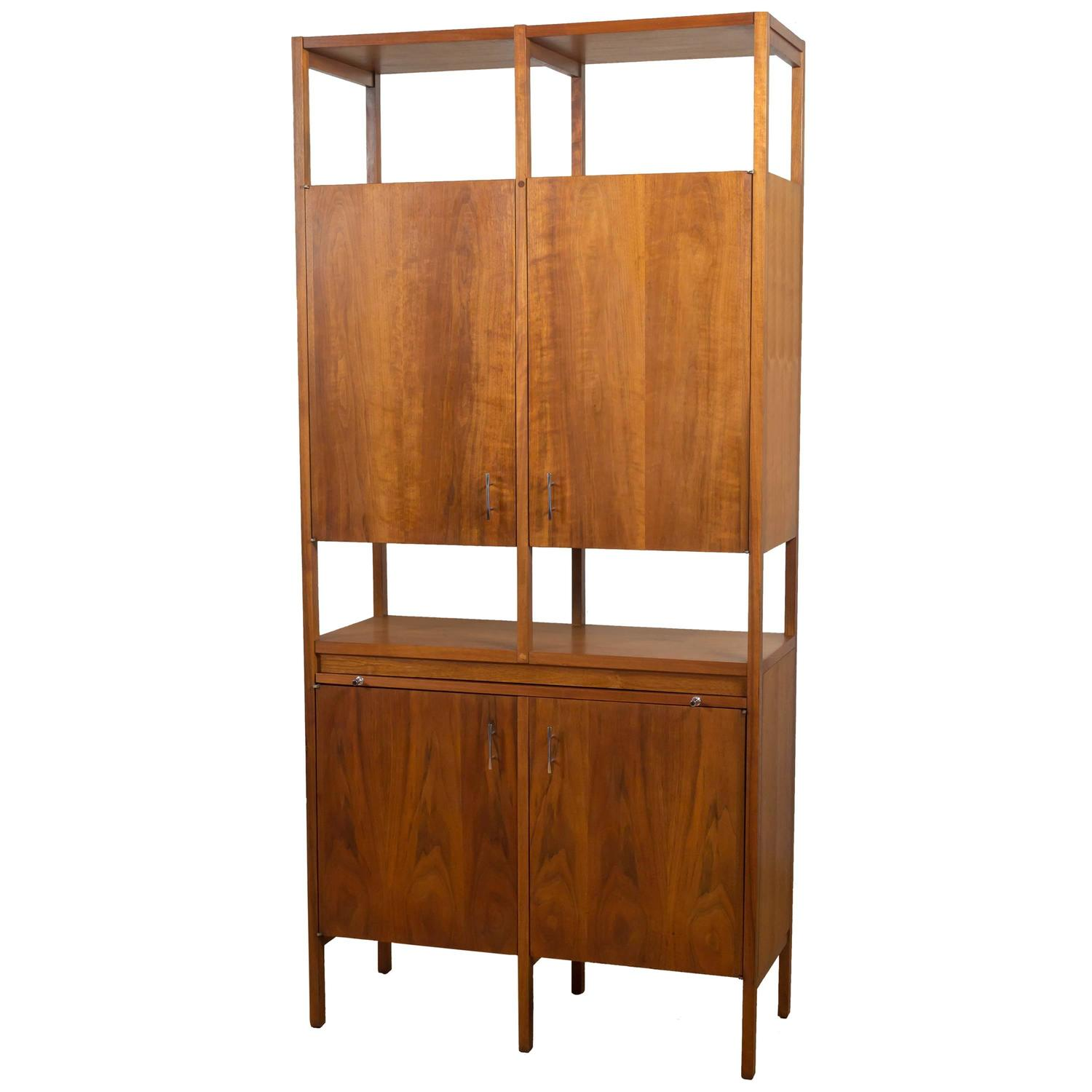 """Delineator"""" Walnut Dry Bar or Tall Cabinet by Paul McCobb for Lane ..."""