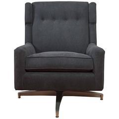 Plush Mid-Century Modern Upholstered Swivel Lounge Chair ***Saturday Sale!