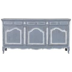 Antique French Louis XV Style Painted Oak Buffet, circa 1875
