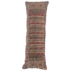 Silk Turkish Bolster Pillow Fragment from the 18th Century