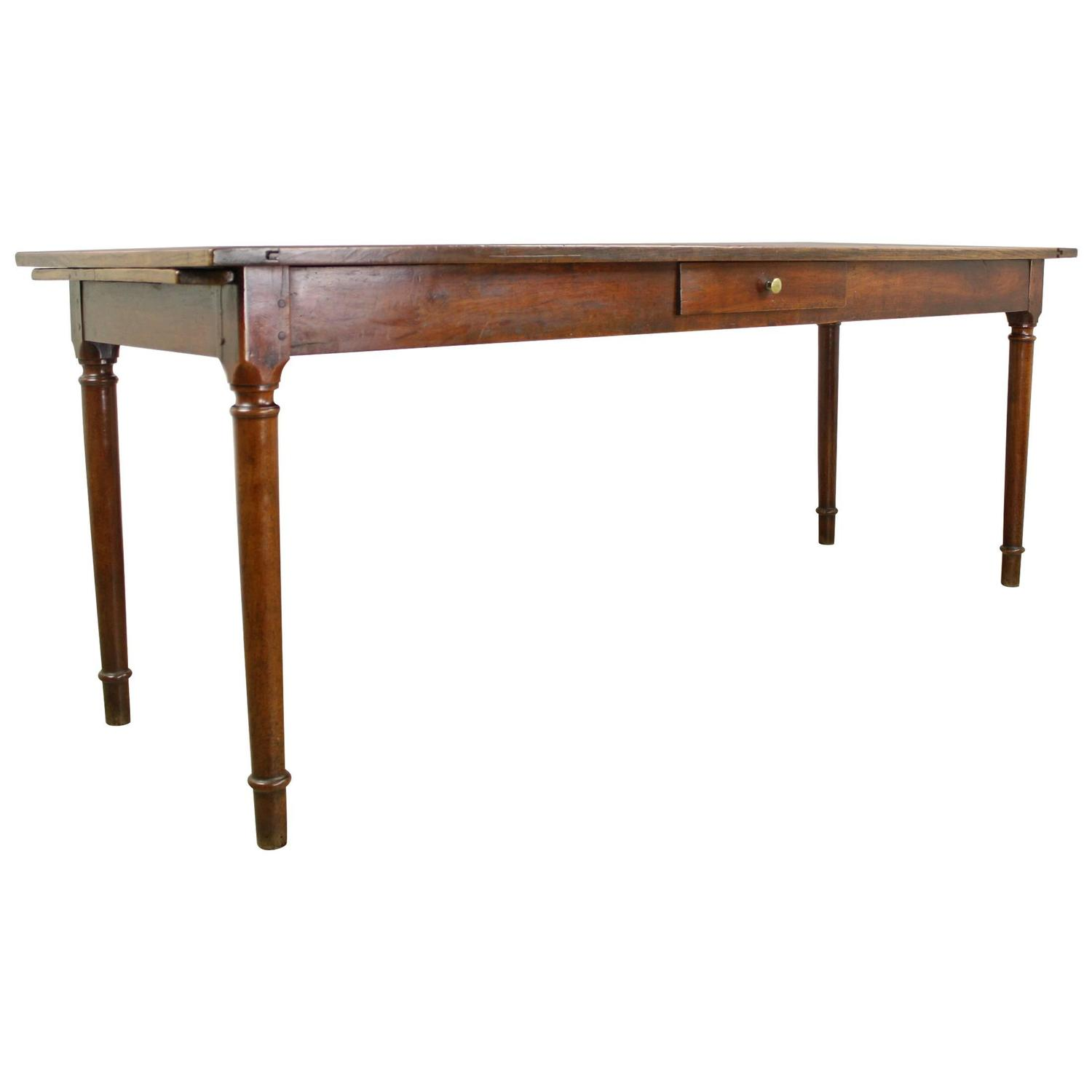 ... Drawer Light Cherry Server/Narrow Dining Table, Bread Slide at 1stdibs